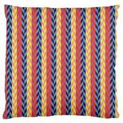 Colorful Chevron Retro Pattern Standard Flano Cushion Case (one Side)