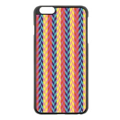 Colorful Chevron Retro Pattern Apple Iphone 6 Plus/6s Plus Black Enamel Case by DanaeStudio
