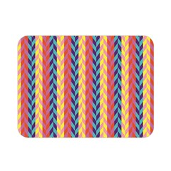 Colorful Chevron Retro Pattern Double Sided Flano Blanket (mini)  by DanaeStudio