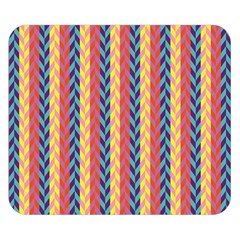 Colorful Chevron Retro Pattern Double Sided Flano Blanket (small)  by DanaeStudio