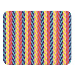 Colorful Chevron Retro Pattern Double Sided Flano Blanket (large)