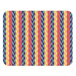 Colorful Chevron Retro Pattern Double Sided Flano Blanket (Large)  80 x60 Blanket Front