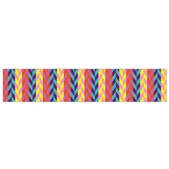Colorful Chevron Retro Pattern Flano Scarf (small)