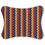 Colorful Chevron Retro Pattern Jigsaw Puzzle Photo Stand (Bow) Front