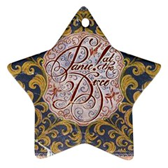 Panic! At The Disco Ornament (star)  by Onesevenart