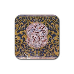 Panic! At The Disco Rubber Square Coaster (4 Pack)  by Onesevenart