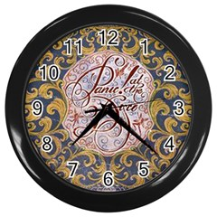 Panic! At The Disco Wall Clocks (black) by Onesevenart