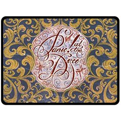 Panic! At The Disco Fleece Blanket (large)  by Onesevenart