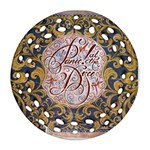 Panic! At The Disco Round Filigree Ornament (2Side)