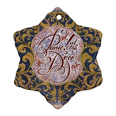Panic! At The Disco Snowflake Ornament (2 Side) by Onesevenart