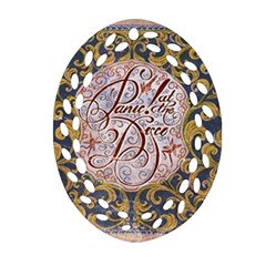 Panic! At The Disco Ornament (oval Filigree)  by Onesevenart