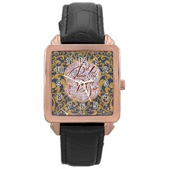 Panic! At The Disco Rose Gold Leather Watch  by Onesevenart