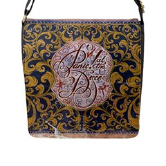 Panic! At The Disco Flap Messenger Bag (l)  by Onesevenart