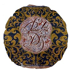Panic! At The Disco Large 18  Premium Flano Round Cushions by Onesevenart