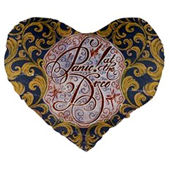 Panic! At The Disco Large 19  Premium Flano Heart Shape Cushions by Onesevenart