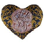 Panic! At The Disco Large 19  Premium Flano Heart Shape Cushions