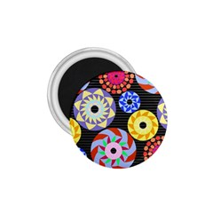 Colorful Retro Circular Pattern 1 75  Magnets by DanaeStudio