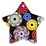 Colorful Retro Circular Pattern Ornament (Star)