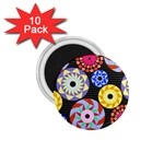 Colorful Retro Circular Pattern 1.75  Magnets (10 pack)