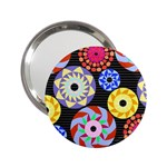 Colorful Retro Circular Pattern 2.25  Handbag Mirrors