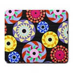 Colorful Retro Circular Pattern Large Mousepads