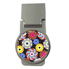 Colorful Retro Circular Pattern Money Clips (round)  by DanaeStudio