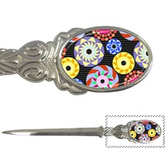Colorful Retro Circular Pattern Letter Openers by DanaeStudio