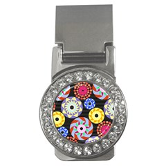 Colorful Retro Circular Pattern Money Clips (cz)  by DanaeStudio
