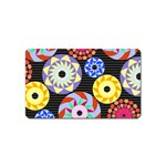 Colorful Retro Circular Pattern Magnet (Name Card)