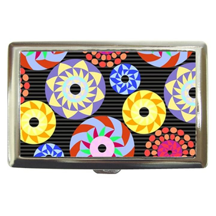 Colorful Retro Circular Pattern Cigarette Money Cases