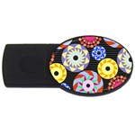 Colorful Retro Circular Pattern USB Flash Drive Oval (2 GB)