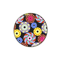 Colorful Retro Circular Pattern Hat Clip Ball Marker (4 Pack) by DanaeStudio