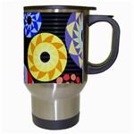 Colorful Retro Circular Pattern Travel Mugs (White) Right