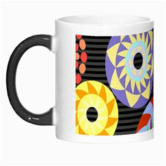 Colorful Retro Circular Pattern Morph Mugs by DanaeStudio