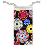 Colorful Retro Circular Pattern Jewelry Bags Back