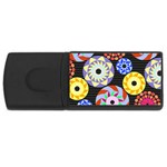 Colorful Retro Circular Pattern USB Flash Drive Rectangular (4 GB)  Front
