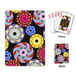 Colorful Retro Circular Pattern Playing Card