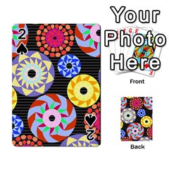 Colorful Retro Circular Pattern Playing Cards 54 Designs  by DanaeStudio