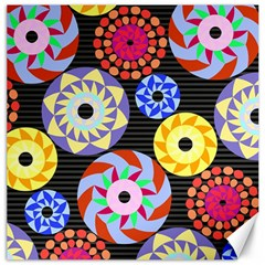 Colorful Retro Circular Pattern Canvas 12  X 12