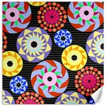 Colorful Retro Circular Pattern Canvas 20  x 20   20 x20 Canvas - 1