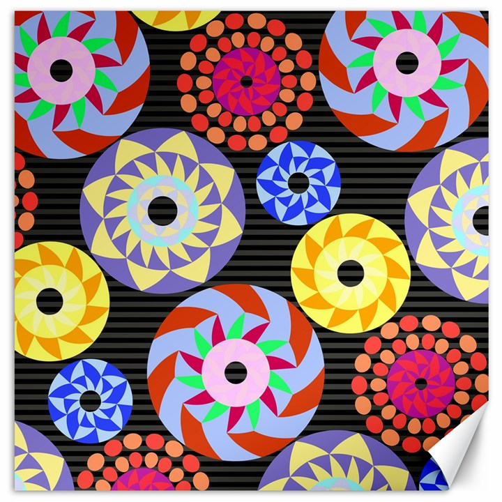 Colorful Retro Circular Pattern Canvas 20  x 20