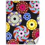 Colorful Retro Circular Pattern Canvas 36  x 48