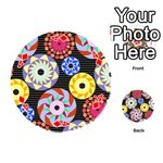 Colorful Retro Circular Pattern Playing Cards 54 (Round)  Front - Diamond4