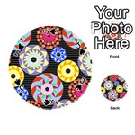 Colorful Retro Circular Pattern Playing Cards 54 (Round)  Front - SpadeJ