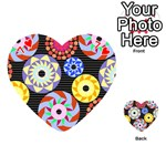 Colorful Retro Circular Pattern Playing Cards 54 (Heart)  Front - Heart7