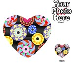 Colorful Retro Circular Pattern Playing Cards 54 (Heart)  Front - HeartQ