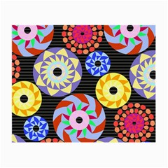 Colorful Retro Circular Pattern Small Glasses Cloth (2 Side) by DanaeStudio