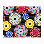 Colorful Retro Circular Pattern Small Glasses Cloth (2-Side)
