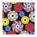 Colorful Retro Circular Pattern Medium Glasses Cloth (2-Side)