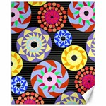 Colorful Retro Circular Pattern Canvas 11  x 14